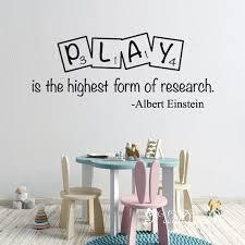 Albert Einstein Quote Wall Decal Einstein Play Room Quote Etsy