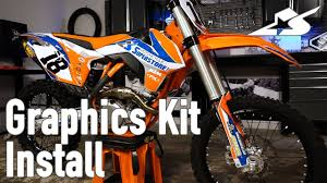 How To Install A Graphics Kit On A Motocross Bike Youtube