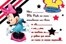 Invitaciones De Cumpleanos De Minnie Para Descargar Gra