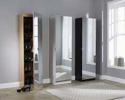 mirrored shoe cabinet storage rack
