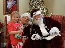 Addie Baker with Santa & Mrs. Claus at UCB on ColumbiaMagazine.com