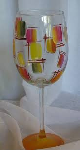stained glass hand painted wine glasses