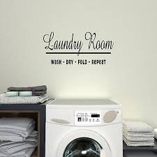 La003 Wash Dry Fold Repeat Laundry Vinyl Wall Decal Art Decor