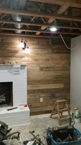 Pallet Wood Wall Made Using Cedar Fence Pickets From Lowes Bonus Is Consistent Width No Disassembly Of Palle Wood Pallet Wall Cedar Fence Pickets Cedar Fence