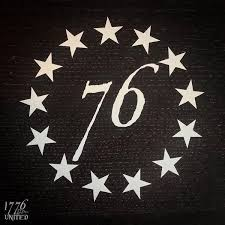 13 Stars Decal 1776 United