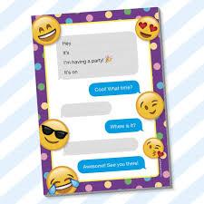 Invitaciones De Cumpleanos Para Ninos Diseno De Emoji Para