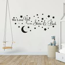 Empresal I Love You To The Moon And Back Vinyl Decal Quotes Sticker Wall Art Wall Stickers Murals