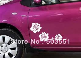 Vinyl Car Decal Sticker Picture More Detailed Picture About Three Rose Flower Car Van Decal Vinyl Graphic Sticker P Flower Car Car Decals Stickers Car Decals