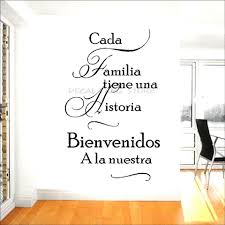 Spanish Home Quotes Wall Decal Cada Familia Tiene Una Historia Welcome To Ours Vinyl Wall Stickers Home Decor Living Room 1009 Wall Stickers Aliexpress