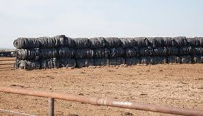 A Windbreak Made Of Recycled Tires