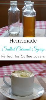 homemade salted caramel syrup retro