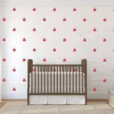 Little Ladybug Wall Sticker Baby Nursery Kids Room Cute Cartoon Ladybugs Animal Wall Decal Living Room Bedroom Vinyl Decor Diy Decor Diy Wall Stickers Baby Nurserywall Sticker Aliexpress
