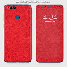 Classic Leather Material Vinyl Phone Skin For Huawei Honor 7x Red Ordernation