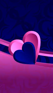 blue pink heart wallpapers top free
