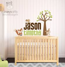 Personalized Vinyl Fabric Wall Decals Woodland Wall Decoration