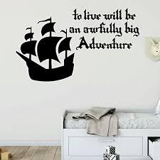 Amazon Com Pirate Ship Wall Decal Awfully Big Adventure Vinyl Decor For Boys Room Playroom Or Nursery Handmade