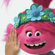 Trolls World Tour Poppy Giant Wall Decal With Glitter Roommates Decor