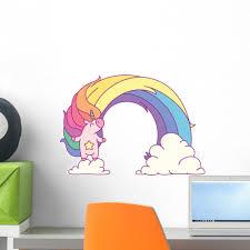 Epic Unicorn Rainbow Wall Decal Wallmonkeys Com