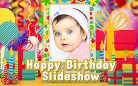 birthday slideshows with and text