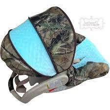 camo withtiffany blue infant car seat