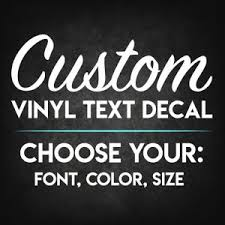 Custom Vinyl Decal Etsy