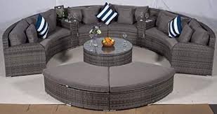 seat grey rattan garden furniture