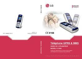 LG G1600 Owner's manual