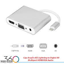 Cáp chuyển đổi Lightning to Digital AV Multiport HDMI VGA Audio, giá chỉ  335,000đ! Mua ngay kẻo hết!
