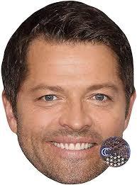 Amazon.com: Misha Collins (Smile) Celebrity Mask, Flat Card Face ...