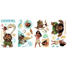 Disney Moana Maui 28 Peel Stick Wall Decals Stickers Girls Room Decor Walmart Com Walmart Com