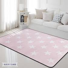 100x150cm Nordic Pink White Star Carpet Rug Thick Soft Kids Room Children Play Area Mat Rectangle Carpet For Living Room Bedroom Carpet Aliexpress