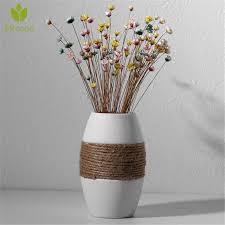 creative decor white hemp rope ceramic