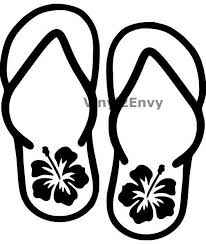 Flip Flops With Flower Car Decal Vinyl Car Decals Window Decal Signage Wall Decal Laptop Decal Beach Decal Beach Sticker Car Decals Vinyl Cricut Vinyl