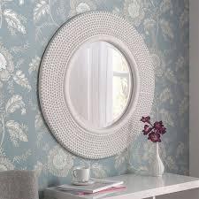 white round wall mirror 79cm