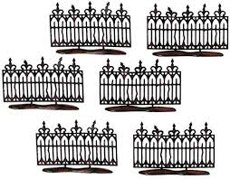 Amazon Com Department 56 Halloween Accessories For Village Collections Spooky Miniature Fence Figurine Set 2 Inches Black Home Kitchen