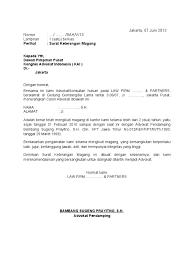 Surat Keterangan Magang Format