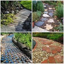 cool creative garden path idea
