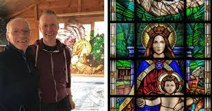 incredible stained glass window heading