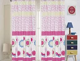 Amazon Com Sapphire Home Kids Girls Window Curtain Panels With Tiebacks 4 Piece Set Floral Butterfly Theme Print Window Curtain For Girls Kids Pink Lilac Girls Kids Teens Room Decor Floral Pink Curtains