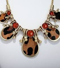leopard print jewelry set images on