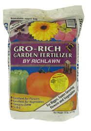 gro rich garden fertilizer the rich