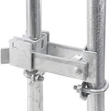Amazon Com Chain Link Fence Commercial Double Gate Latch 1 5 8 Or 2 Frame Strong Arm Double Gate Latch For Swing Gates Home Improvement