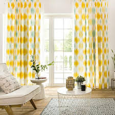 Yellow Funky Cute Floor To Ceiling Curtains For Kids
