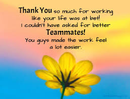 thank you and congratulations messages for team
