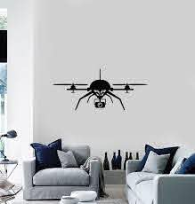 Vinyl Wall Decal Uav Quadcopter Racing Drone Aircraft Stickers Mural Wallstickers4you