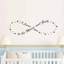 Battoo I Love You To The Moon And Back Infinity Vinyl Wall Decal Quotes Baby Crib Nursery Kids Room Bedroom Wall Decal Sticker Wall Decals Stickers Wall Decals Quoteskids Room Aliexpress