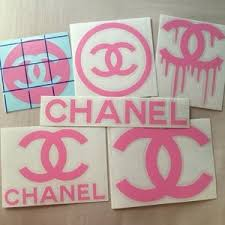Chanel Other Sticker Decal 6pcs Baby Pink Poshmark