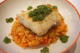 Pan-fried cod and cherry tomato risotto ...