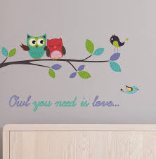 Wallpops Home Decor Line Owl You Need Is Love Wall Decal Wayfair