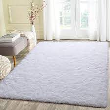 Amazon Com Beglad 5 3 Ft X 7 5 Ft Soft Fluffy Area Rug Modern Shaggy Bedroom Rugs For Kids Room Extra Comfy Nursery Rug Floor Carpets Boys Girls Fuzzy Shag Fur Home Decor Rug
